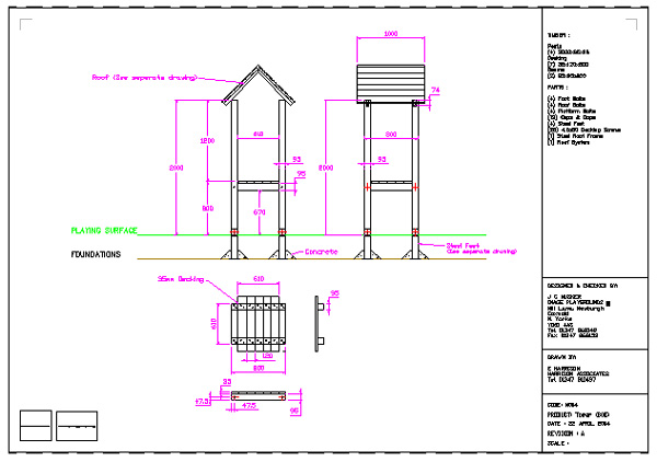 Novay design cad drawing technical drawing chester uk for Playground blueprints