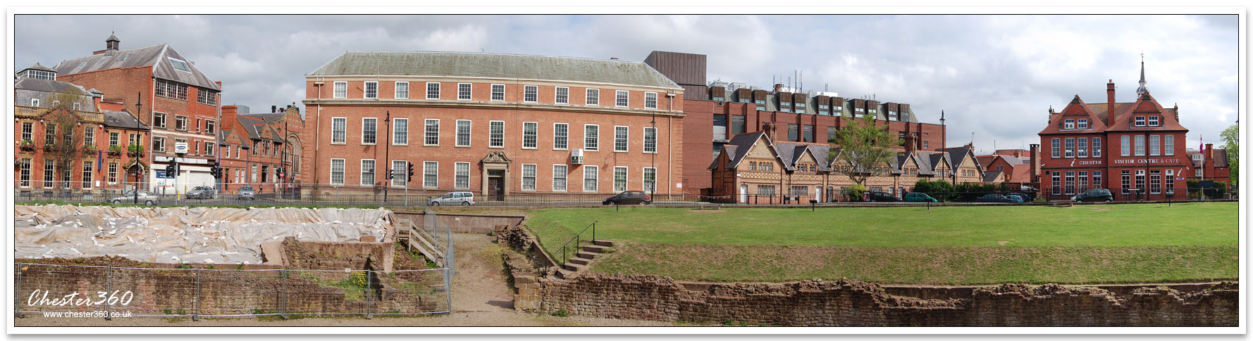 Panoramic Image of Chester Roman Amphitheatre