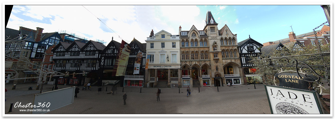 Panoramic Photo of Eastgate Street Chester